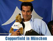 "David Copperfield in der Münchner Olympiahalle ""An Intimate Evening of Grand Illusion"" und Aufnahme in den Munich Olympic Walk of Stars (Foto: Nathalie Tandler)"