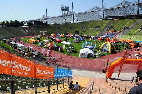 sport scheck outdoor festival 2011 im olympiastadion m nchen vom 19 hochseilgarten. Black Bedroom Furniture Sets. Home Design Ideas