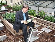 urban gardening auf dem dachgarten ber feinkost k fer go green by k fer event mit golfprofis. Black Bedroom Furniture Sets. Home Design Ideas