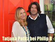 """Stargeflüster"" mit Supermodel Tatjana Patitz, Hollywoods ""Haarflüsterer"" Philip B. und Moderatorin Frauke Ludowig am 23.08.2015 in der ""Hair & Beauty Galerie"" in München (©Foto: Michael Schmatloch)"