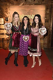 Sylvia Walker, Cati Hucke (Hairdreams), Alexandra Polzin / Hairdreams bei der 28. Weisswurstparty im Hotel Stanglwirt in Going bei Kitzbühel am 25.01.2019 / Foto: BrauerPhotos / S.Brauer fuer Hairdreams