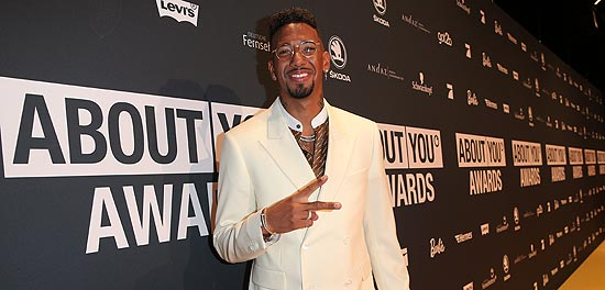 Jerome Boateng bei den 3. ABOUT YOU Awards am 20.04.2019 in den Münchner Bavaria Studios (©Photo: Gisela Schober/Getty Images für ABOUT YOU