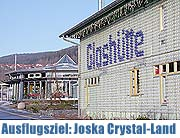 glaserlebnis in der joska kristallwelt in bodenmais bayerischer wald das gro e joska crystal. Black Bedroom Furniture Sets. Home Design Ideas