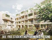BEE FREE Studentenappartments in Freising ©BHB Unternehmensgruppe